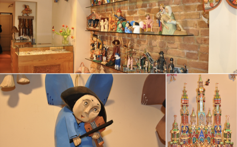 Drewniane ręcznie robione anioły oraz szopki bożonarodzeniowe dobre na prezent